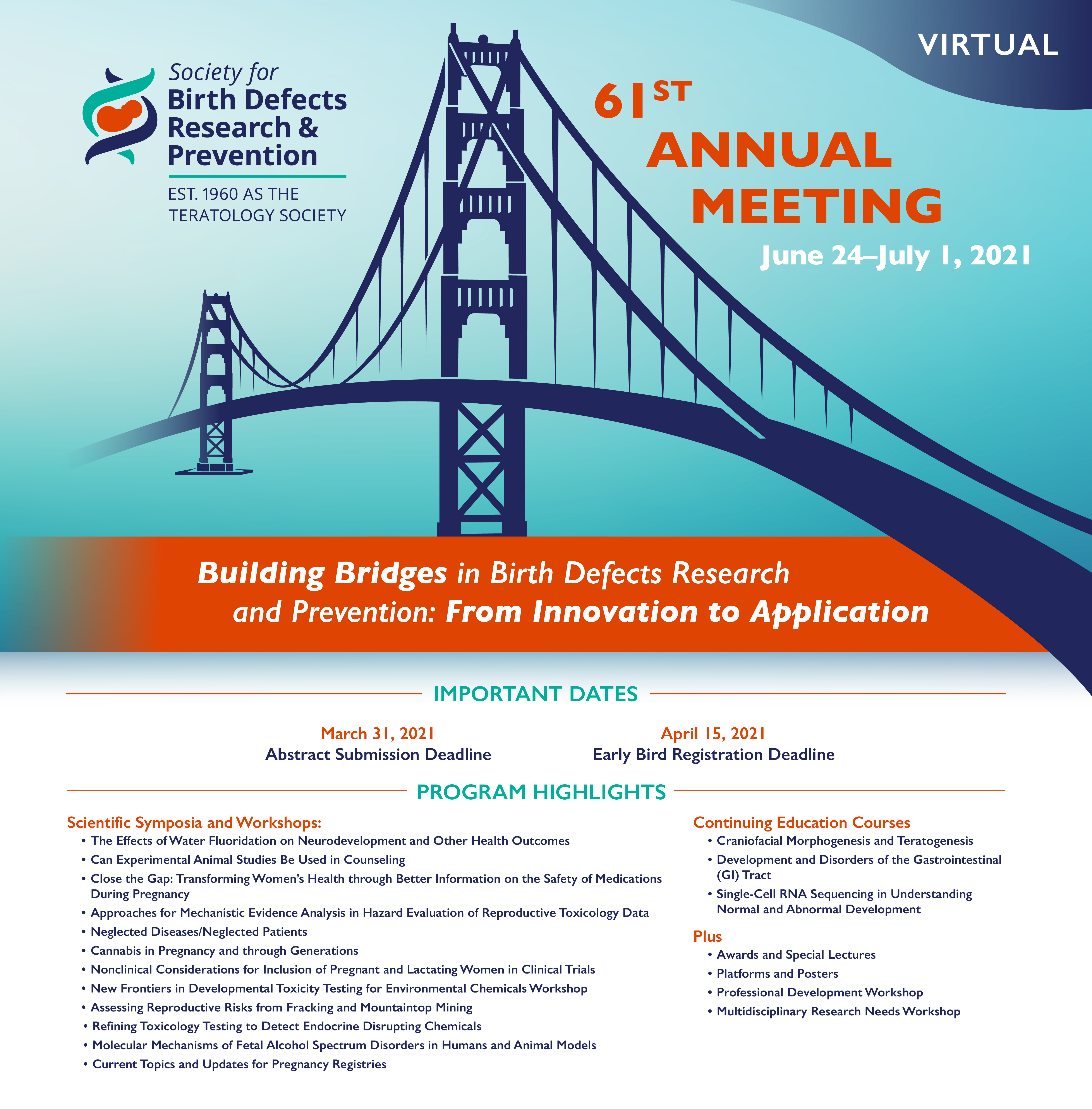 Save the Date - 2021 BDPR